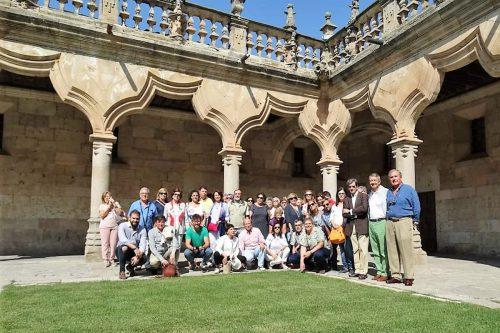 2018-11 Visita a Salamanca. Claustro de la Universidad